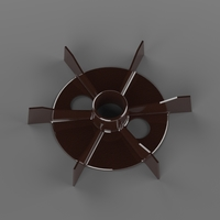 Small Fan for 1.5kW electric motor (d24,5mm) 3D Printing 195214