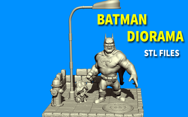 Medium Batman cartoon - diorama 3D Printing 195241