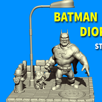 Small Batman cartoon - diorama 3D Printing 195241
