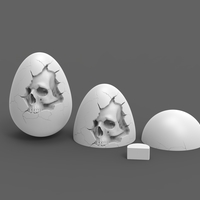 Small Skull Easter Egg 3D Printing 195283