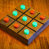 Small Tic Tac Toe Board Game 3D Printing 195321