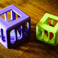 Small Caged Tetrahedron Puzzle 3D Printing 195340