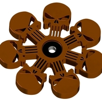 Small Punisher Fidget Spinner 3D Printing 195383