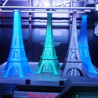 Small Multi Sided Eiffel Style Vases 3D Printing 19543