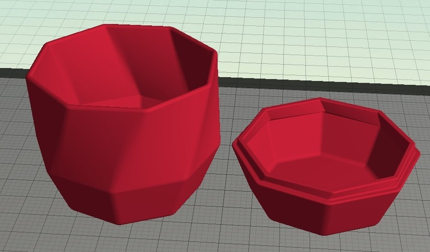 Twisted Octagonal Pot with Lid 3D Print 19547