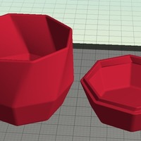 Small Twisted Octagonal Pot with Lid 3D Printing 19547