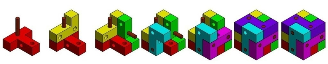 Block and Pin Puzzle 3D Print 195499