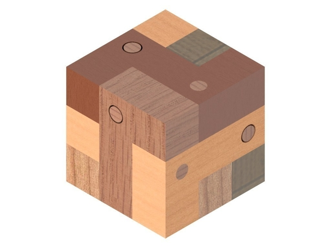 Block and Pin Puzzle 3D Print 195500