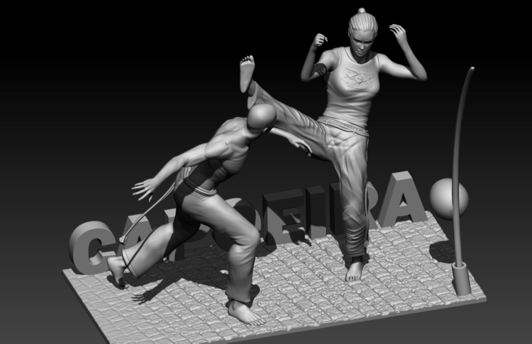 Capoeira Fight 3D Print 195519