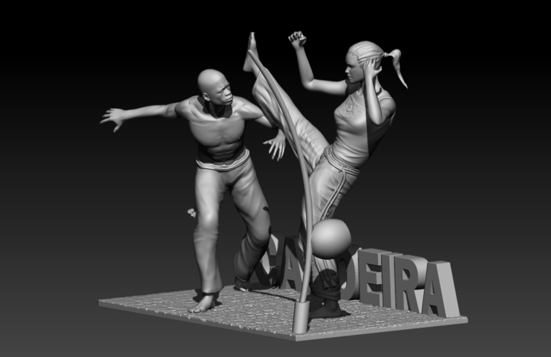 Capoeira Fight 3D Print 195520