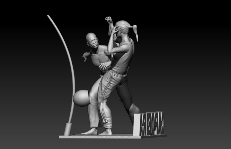Capoeira Fight 3D Print 195521