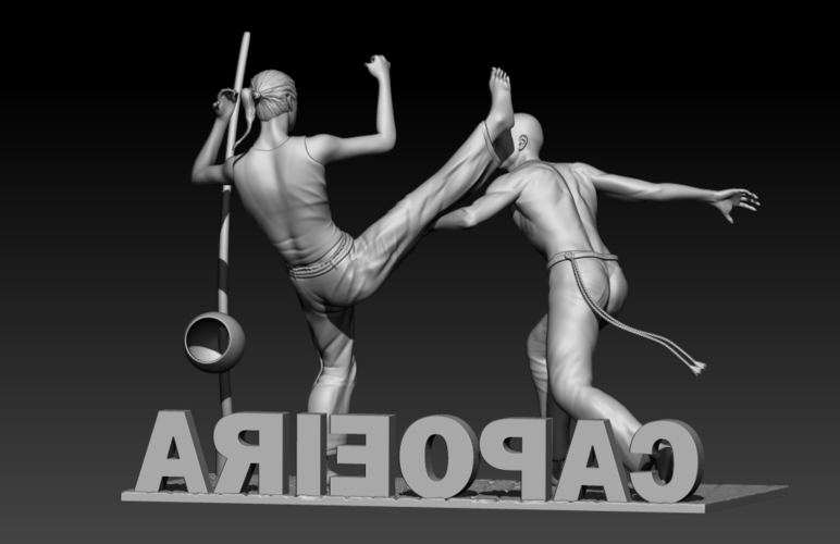 Capoeira Fight 3D Print 195522