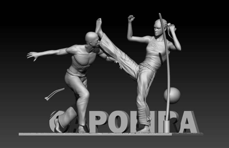 Capoeira Fight 3D Print 195524
