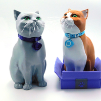 Small SCHRODINKY! Pinshape Cat Collar medals!! 3D Printing 195533