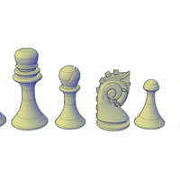 Small Duchamp Chess Set support free 3D Printing 195547