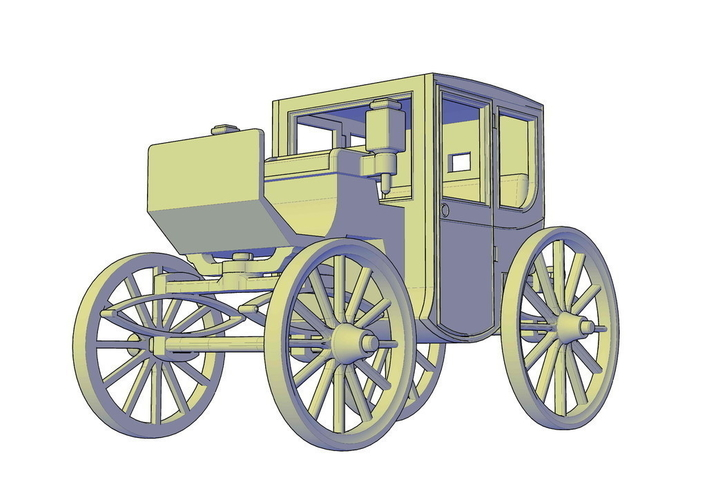 Brougham carriage 3D Print 195610