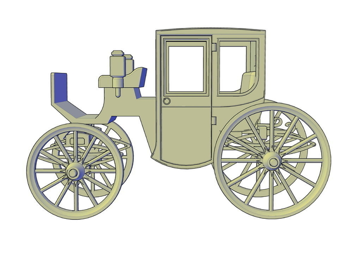 Brougham carriage 3D Print 195614