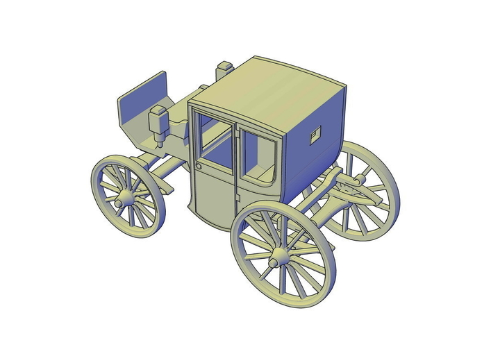 Brougham carriage 3D Print 195615