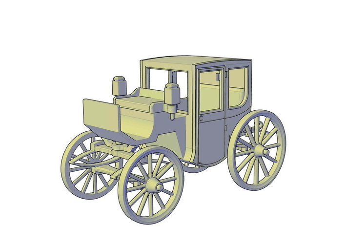 Brougham carriage 3D Print 195616