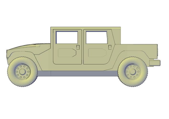 Hummer H1 double cabine pickup 3D Print 195659