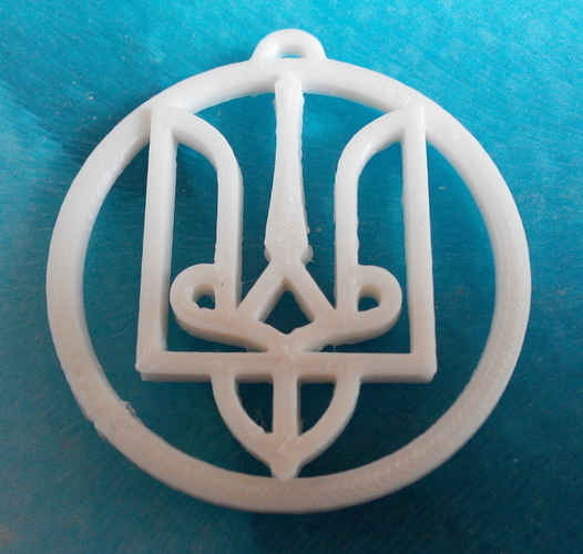 Ukrainian symbol - Trident of Prince Volodymer the Great (980) 3D Print 195676