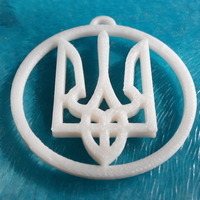 Small Ukrainian symbol in a circle 3D Printing 195678