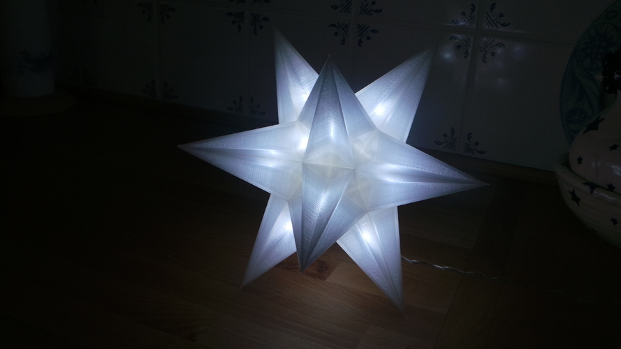 USB Christmas star - No Glue + LED holes 3D Print 19569