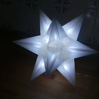 Small USB Christmas star - No Glue + LED holes 3D Printing 19569