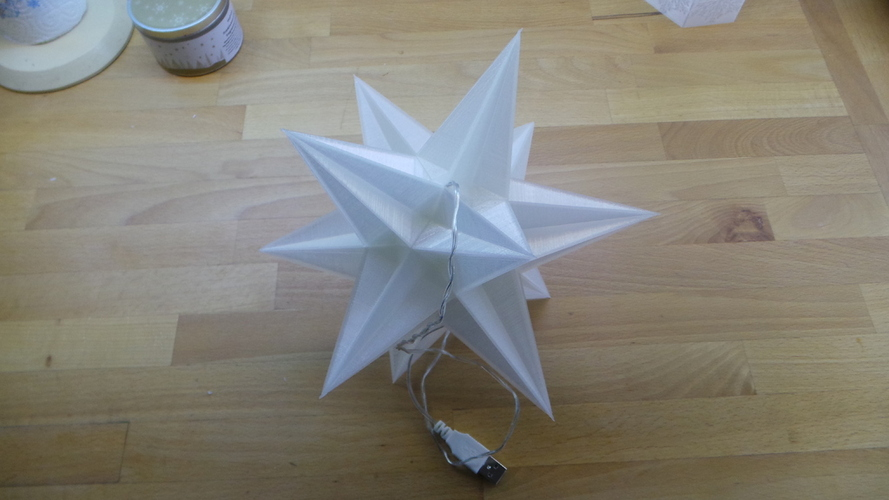 USB Christmas star - No Glue + LED holes 3D Print 19570