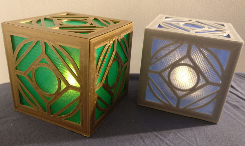 Jedi Holocron (light-up with an LED tealight!) 3D Print 195705