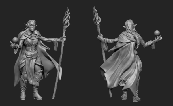 Medium Mage Elf 3D Printing 195807