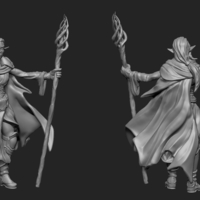 Small Mage Elf 3D Printing 195807