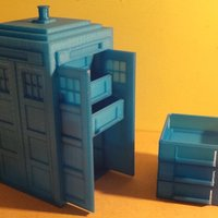 Small Tardis with drawers 3D Printing 19582