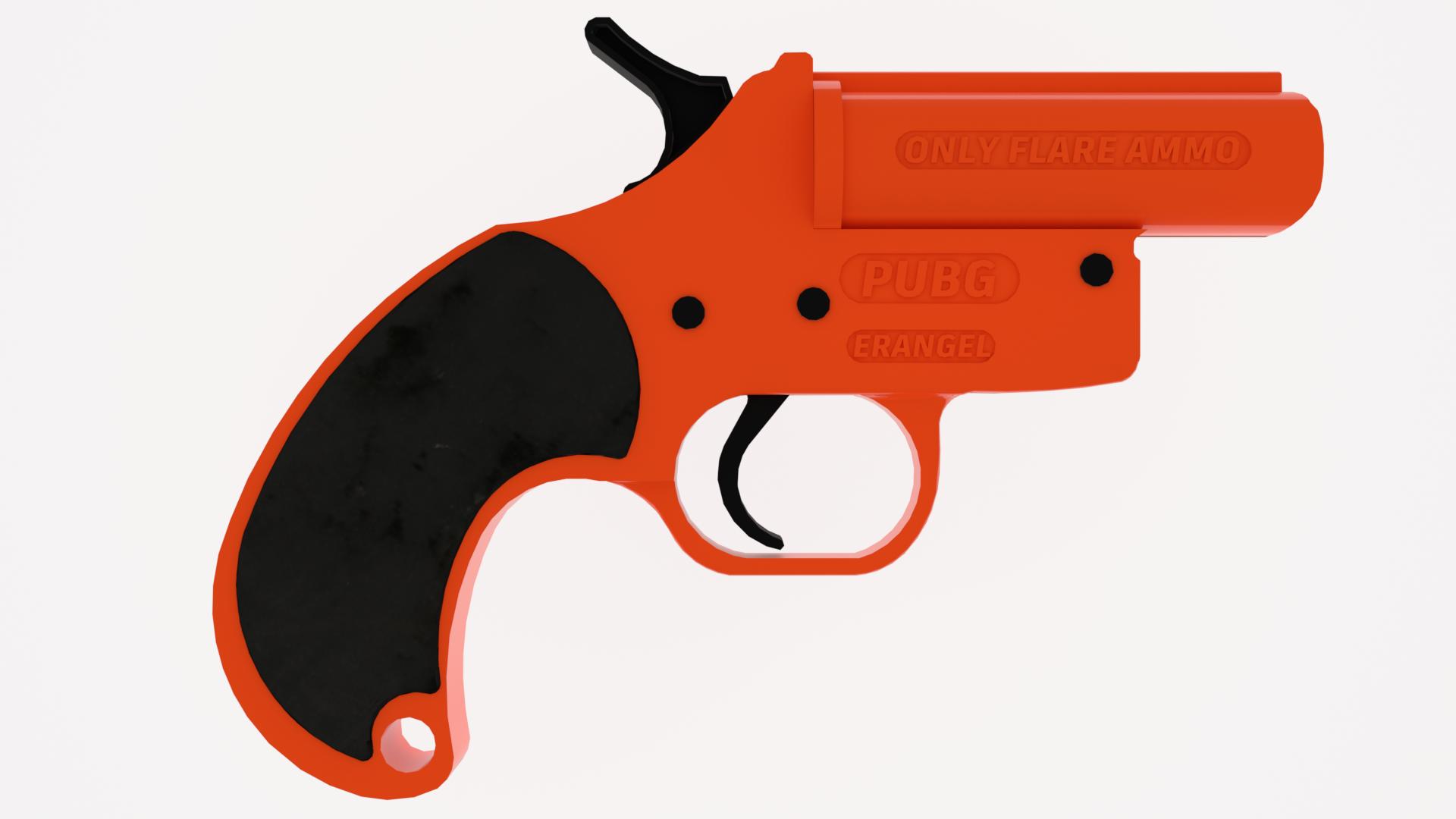 3d Printed Pubg Flare Gun Prop By Samsuchin Pinshape