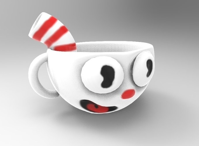 Cuphead Cup 3D Print 195897