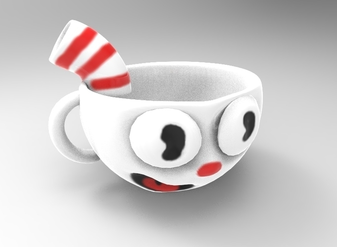 Cuphead Cup 3D Print 195898