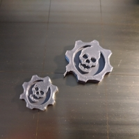 Small Gears of War Logo 3D Printing 195914