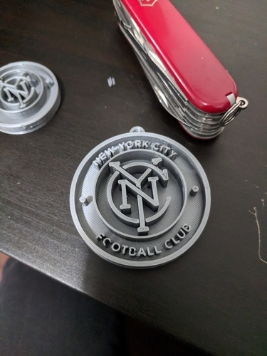 New York City Football Club Keychain 3D Print 195915