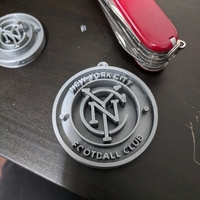 Small New York City Football Club Keychain 3D Printing 195915