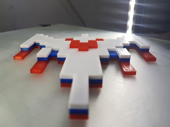 Galaga Ship - Retro 80's Gaming Icon 3D Print 195935