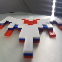 Small Galaga Ship - Retro 80's Gaming Icon 3D Printing 195935