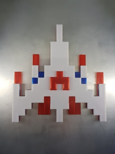 Galaga Ship - Retro 80's Gaming Icon 3D Print 195936