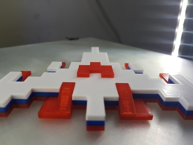 Galaga Ship - Retro 80's Gaming Icon 3D Print 195938