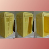 Small Tardis with doors 3D Printing 19594