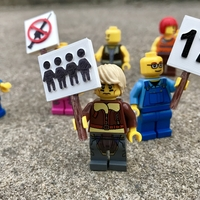 Small March for Our Lives Signs - MiniFig Compatible 3D Printing 196006