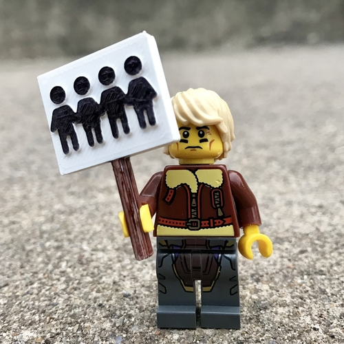 March for Our Lives Signs - MiniFig Compatible 3D Print 196007