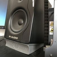 Small M-Audio BX5 D2 Speaker Stand (with Logo) 3D Printing 196021