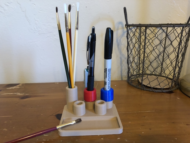 Art Caddy with USB Storage 3D Print 196064