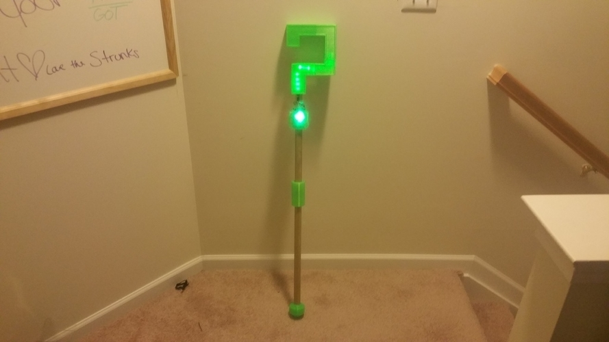 Riddler Cane Topper LED Remix 3D Print 196074