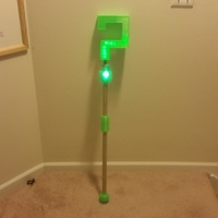 Small Riddler Cane Topper LED Remix 3D Printing 196074